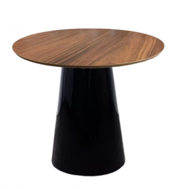Mesa de Jantar Redonda Cone com Base Preta 1,00cm