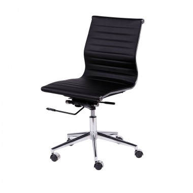 Cadeira De Escritório Esteirinha Sem Braço 3301 Baixa Preta