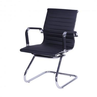 Cadeira De Escritório Esteirinha 3301 Fixa Preta