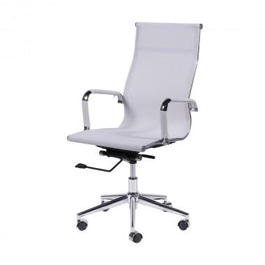 Cadeira De Escritório Esteirinha Tela 3303 Alta Branca