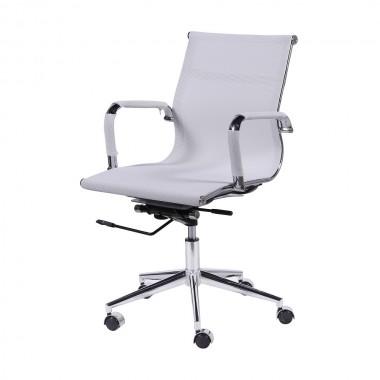 Cadeira De Escritório Esteirinha Tela 3303 Baixa Branca
