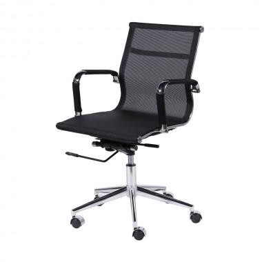 Cadeira De Escritório Esteirinha Tela 3303 Baixa Preta