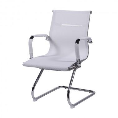 Cadeira De Escritório Esteirinha Tela 3303 Fixa Branca