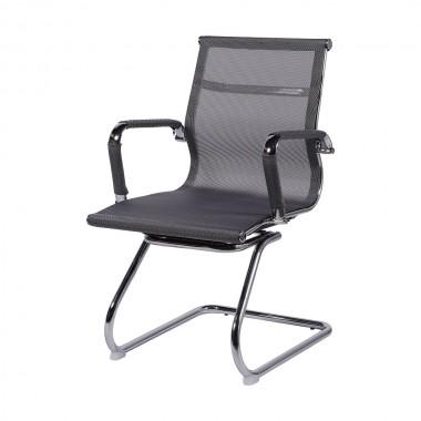 Cadeira De Escritório Esteirinha Tela 3303 Fixa Cinza