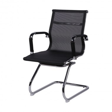Cadeira De Escritório Esteirinha Tela 3303 Fixa Preta