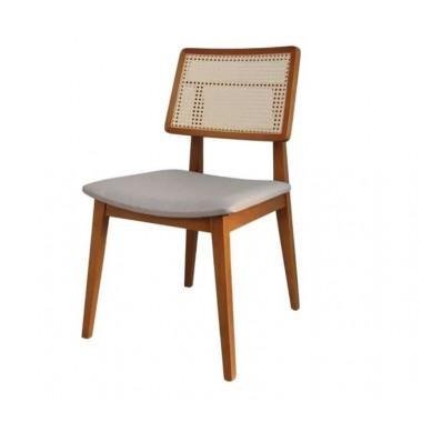 Cadeira Mz4 de Madeira Palha Natural