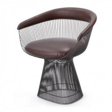 Cadeira Platner Aço Pintado Preta