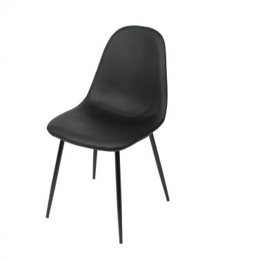Cadeira Tânia Preta Base Preta