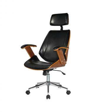 Cadeira Office Lisboa com Encosto Preta