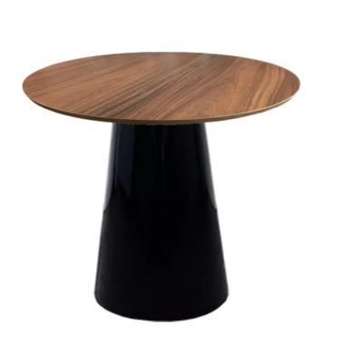 Mesa de Jantar Redonda Cone com Base Preta 0,80cm